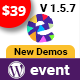 EvnTalk - Event Conference WordPress Theme - ThemeForest Item for Sale