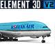 Airbus A380 - Korean Air - 3DOcean Item for Sale
