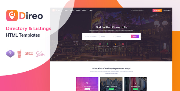 Direo - Directory & Listing HTML Template