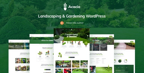 Acacio - Landscaping & Gardening WordPress