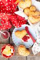 Homemade bread rolls in a heart shape - PhotoDune Item for Sale