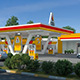 Gas Station Scene Day And Night - 3DOcean Item for Sale