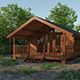 Small Wooden House For Nature Living - 3DOcean Item for Sale