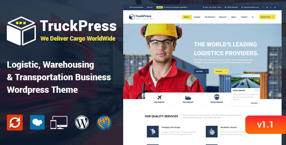 TruckPress - Logistics & Transportation WP Theme