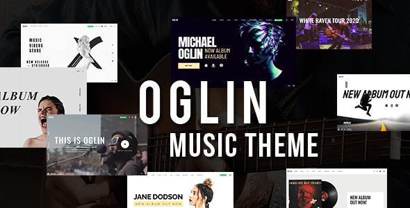 Oglin - A Clean and Simple Music WordPress Theme with AJAX Navigation
