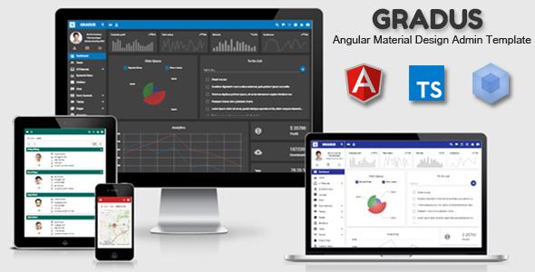 Gradus - Angular 9 Material Design Admin Template