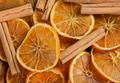 Texture of orange slices and cinnamon - PhotoDune Item for Sale