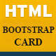 HTML CSS Bootstrap Card Template - CodeCanyon Item for Sale