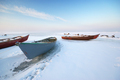 Boat on ice. - PhotoDune Item for Sale