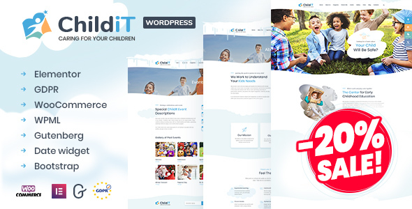 Childit - Kindergarten Elementor WordPress Theme