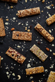 Mixed gluten free granola cereal energy bars. With dried fruits and nuts - PhotoDune Item for Sale
