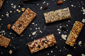 Homemade gluten free granola bars with mixed nuts, seeds, dried fruits - PhotoDune Item for Sale