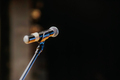 Close Up of Microphone Standing at Stage Before Concert - PhotoDune Item for Sale