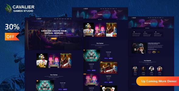 Cavalier - Gaming Studio WordPress Theme + RTL