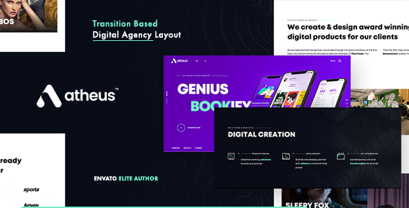 Atheus - Modern Creative Agency Theme