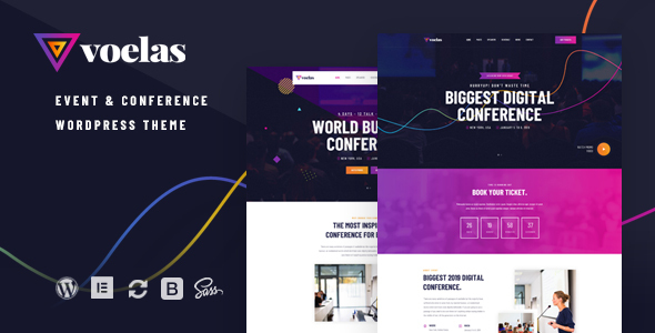 Voelas - Event & Conference WordPress Theme