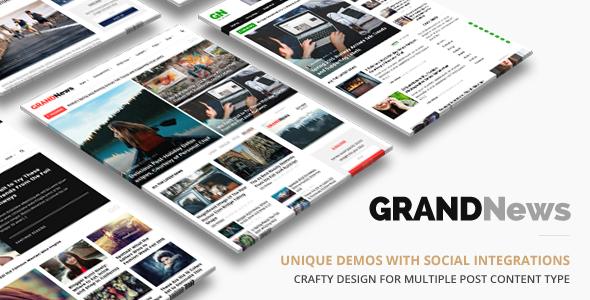 Grand News | Magazine Newspaper WordPress Download