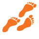 Foot Steps on Rock