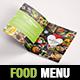 Elegant and Fresh Food / Restaurant Menu A4 Brochure Template - InDesign - GraphicRiver Item for Sale