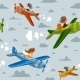 Seamless Background Airplane - GraphicRiver Item for Sale
