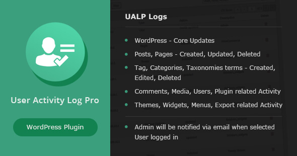 Photo of User Activity Log PRO for WordPress Full Download