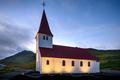Vik i Myrdal Church in the evening, Europe, Iceland - PhotoDune Item for Sale