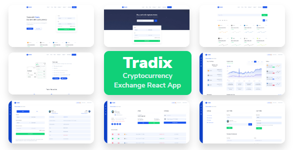 Tradix - Cryptocurrency Exchange React App with Dashboard