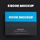 8 Book Mockups Hard Cover Landscape Oriantation - GraphicRiver Item for Sale