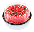 red cake with strawberries - PhotoDune Item for Sale