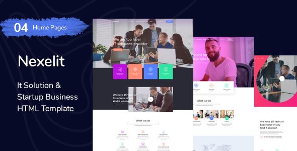 Nexelit - startup & it solutions HTML Template