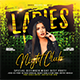 Ladies Club Night Flyer Template - GraphicRiver Item for Sale