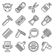 Barber Shop Icons Set on White Background - GraphicRiver Item for Sale