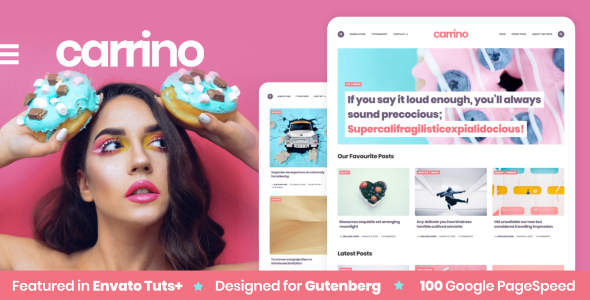 Carrino -  An Exciting Gutenberg Blog Theme