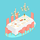 Isometric Dinning Room - GraphicRiver Item for Sale