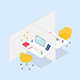Modern Isometric Office Cubicles - GraphicRiver Item for Sale