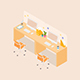 Isometric Office Cubicle - GraphicRiver Item for Sale