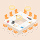 Modern Isometric Conference Room - GraphicRiver Item for Sale
