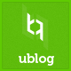 UBlog - Responsive WordPress Theme for Bloggers - ThemeForest Item for Sale