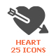 Heart & Love Filled Icon - GraphicRiver Item for Sale