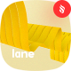 Lane - Yellow Wavy Bands Background Set - GraphicRiver Item for Sale