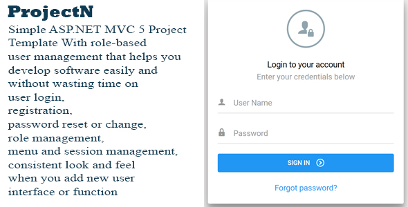 ASP.NET MVC 5 Project Template With Role Based Users Management