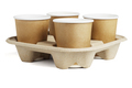 Coffee Cups in Disposable Paper Tray - PhotoDune Item for Sale