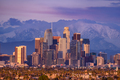 Los Angeles downtown skyline at sunset - PhotoDune Item for Sale