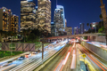 Downtown Los Angeles traffic at night - PhotoDune Item for Sale