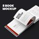 8 Book Mockups Hard Cover Landscape Oriantation. Set 2 - GraphicRiver Item for Sale