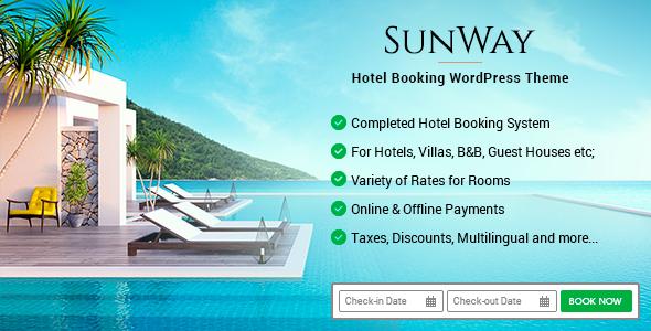 Sunway - Hotel Booking WordPress Theme