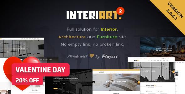 InteriArt - Furniture & Interior WordPress Theme