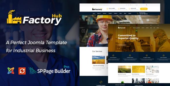 Factory HUB - Industrial Business Joomla Template
