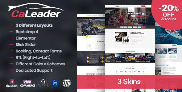 CaLeader - Car Dealer WordPress Theme