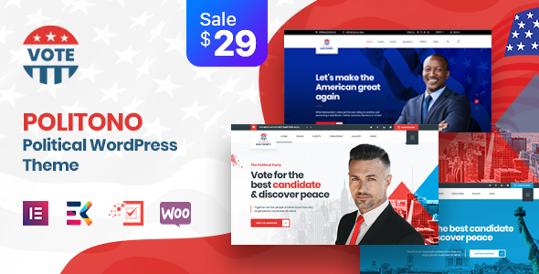 Politono – Political Election Campaign WordPress Theme Preview